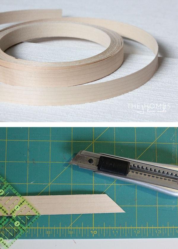 Wallpaper-Covered Dresser   Trim Wood Stripping