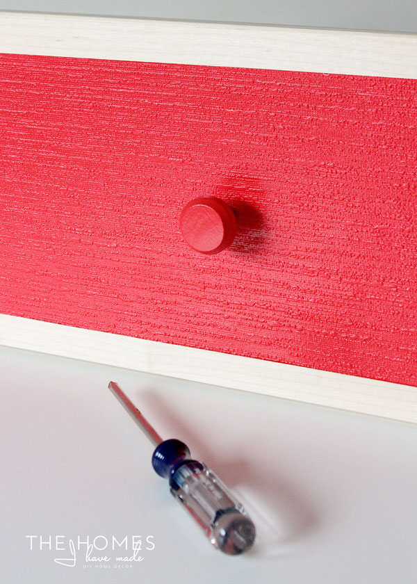 Wallpaper-Covered Dresser | Re-Attach Knobs