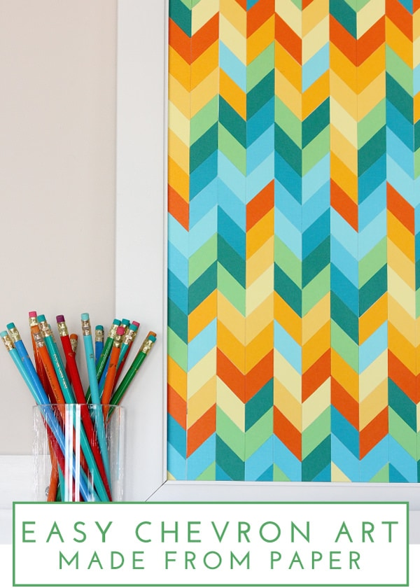 THIHM Around the Web | DIY Chevron Paper Art