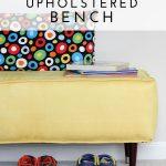 DIY Mini Upholstered Bench