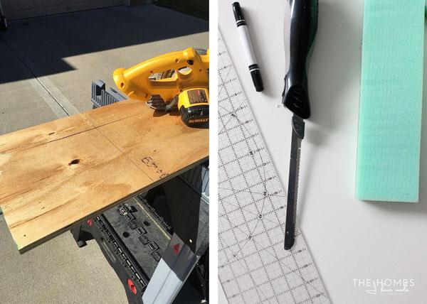 DIY Mini Upholstered Bench | Trim Materials