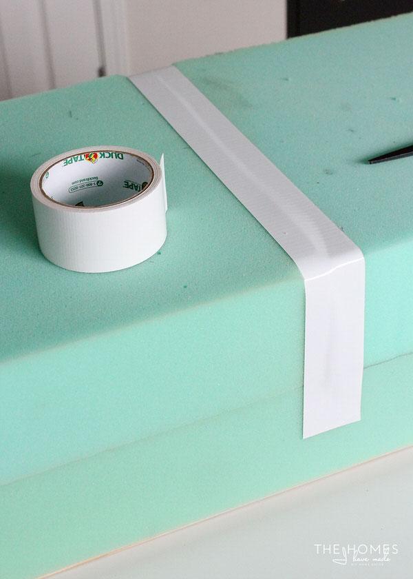 DIY Mini Upholstered Bench | Tape Foam