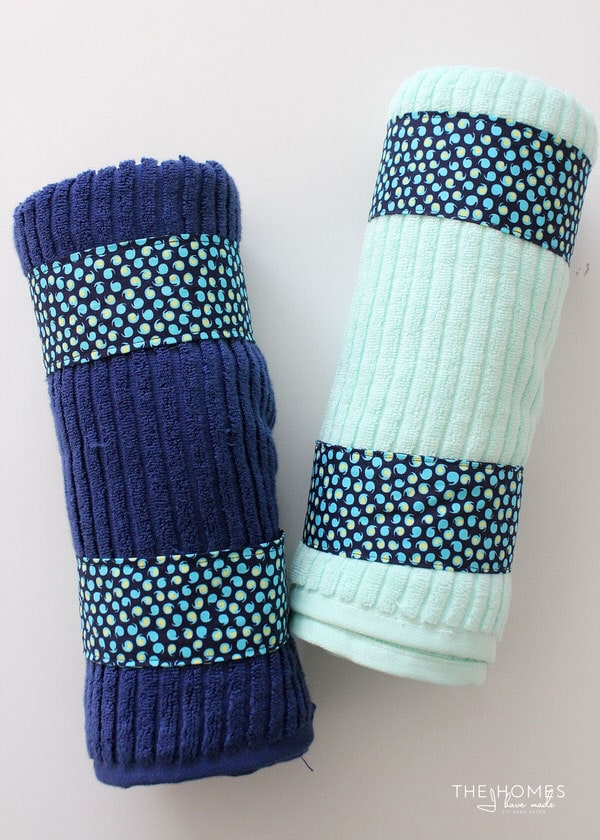 DIY Towel Straps Keep Your Towels Tightly Rolled