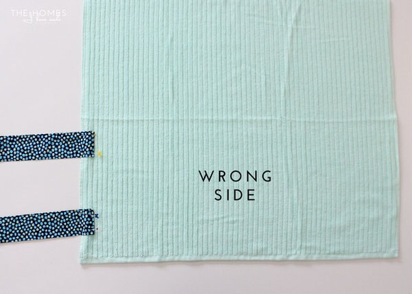 DIY Towel Straps | Strap Placement