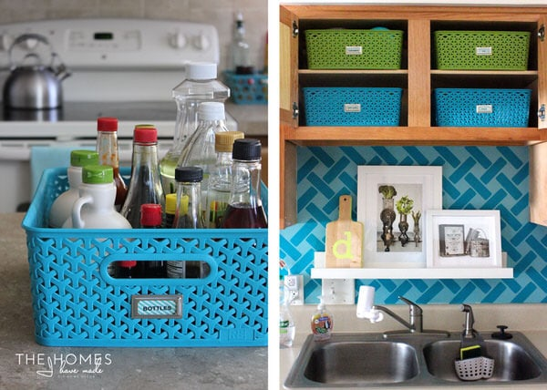Target Y-Weave Baskets are great for the kitchen!
