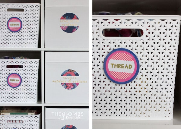 Target Y-Weave Baskets are great for the craft room!
