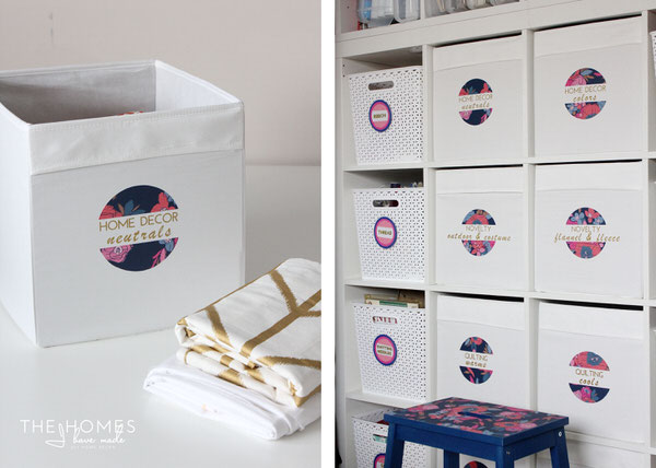 IKEA DRONA bins are great for the craft room!