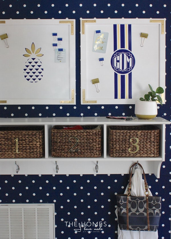 Baskets are ideal for making use of every inch of space!