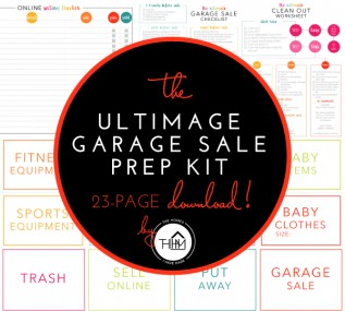 A 25-page printable including all the checklists, signs, and price tags you need to hold a successful garage sale!