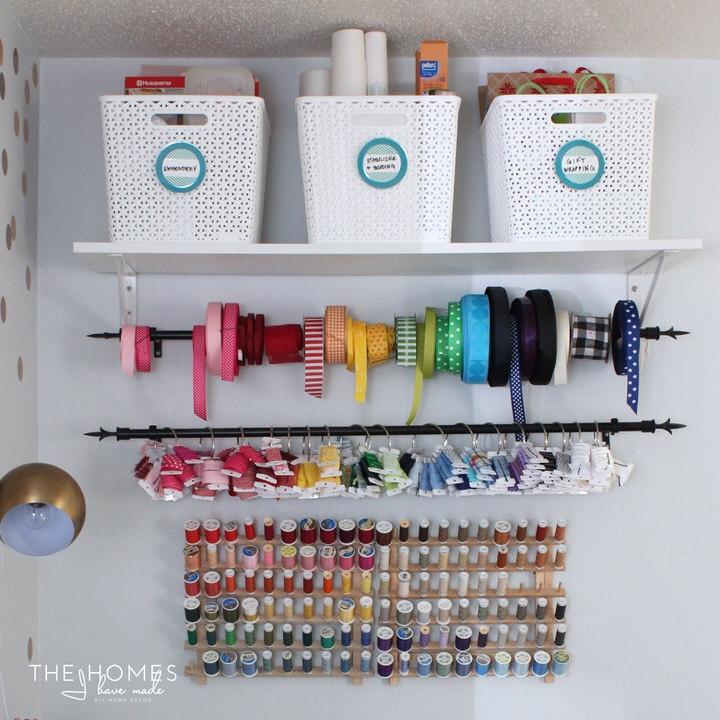 Target Y-Weave Baskets on Open Shelving