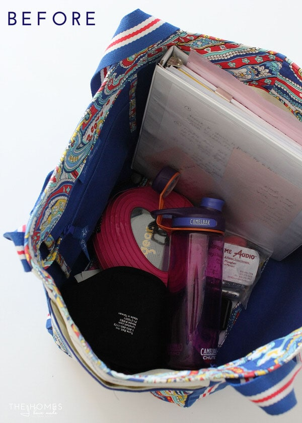 Organize This: Your Gym Bag   Before