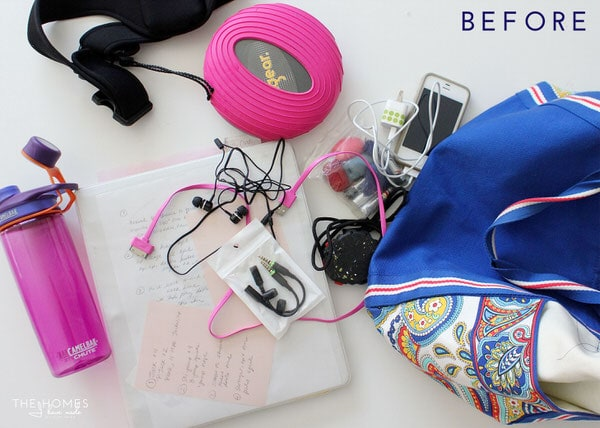 Organize This: Your Gym Bag | Before