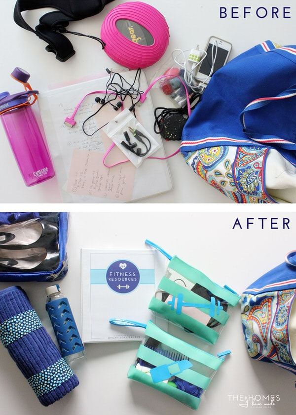 Organize This: Your Gym Bag | Before & After
