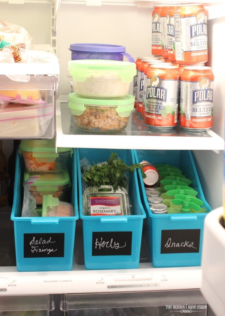 Target File Boxes in the Refrigerator for Snack Storoage