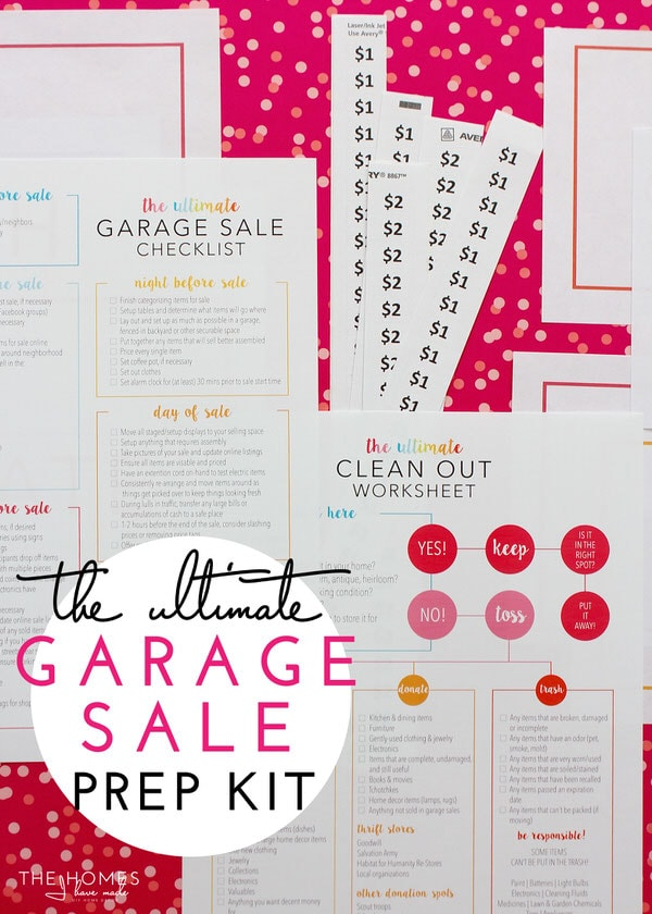 photograph regarding Printable Garage Sale Signs called The Greatest Garage Sale Prep Package (a Extensive Printable