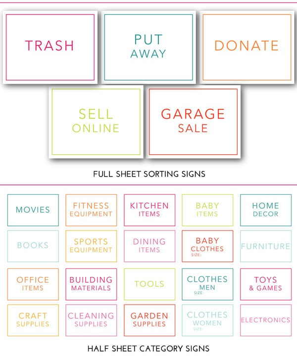 photo about Printable Yard Signs named The Top Garage Sale Prep Package (a Substantial Printable
