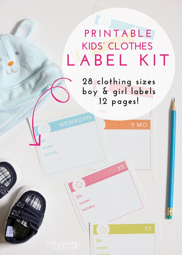 Printable Kids' Clothes Label Kit