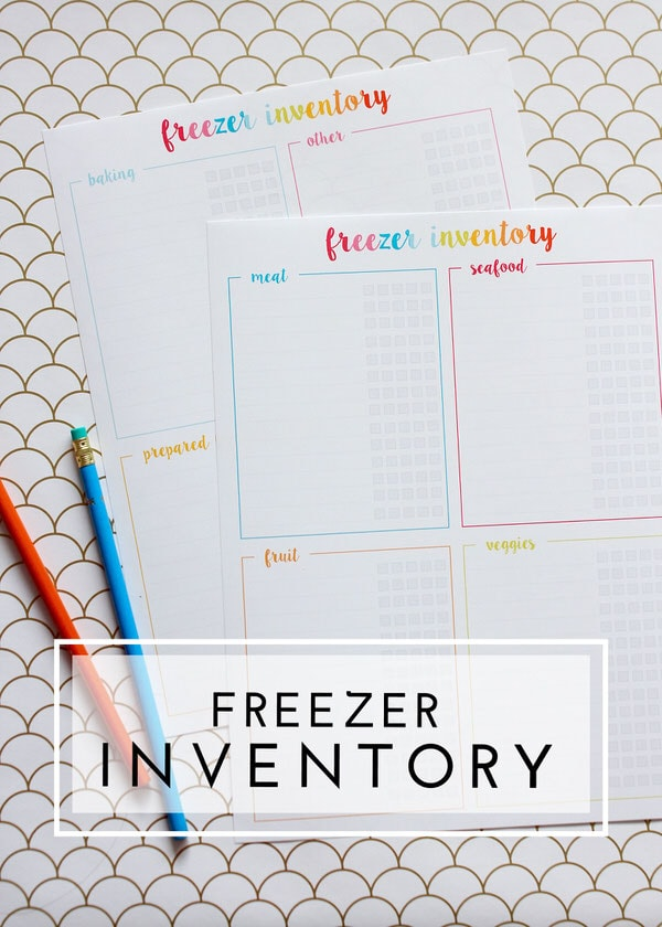 Keep track of everything you have stored in your freezer with this easy-to-use freezer inventory (and printable freezer labels!)