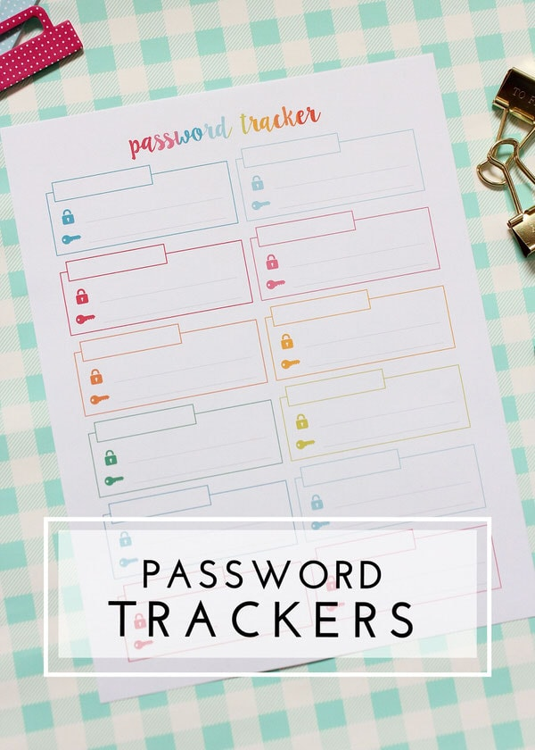 Keep track of all those passwords with this pretty printable tracker!