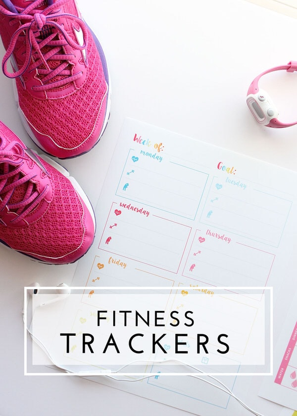 Pretty printables make sticking to your diet and exercise routine fun and easy!