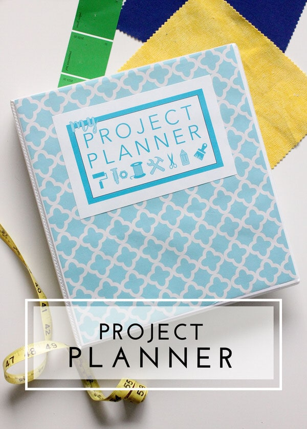 This Printable Project Planner helps you plan every detail for your next DIY!