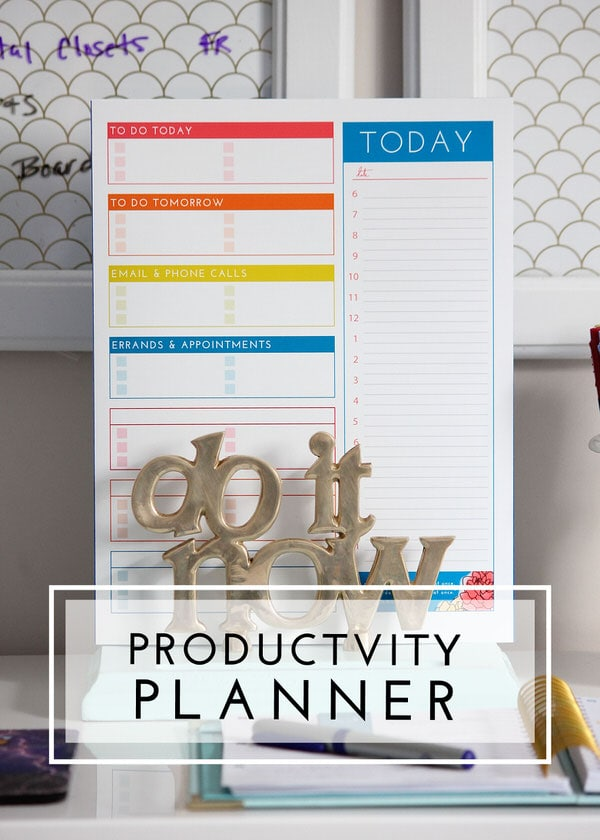 A Productivity Planner helps you organize your daily tasks and appointments!