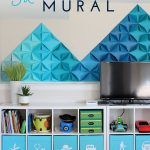 Renter-Friendly Walls: A 3D Paper Mountain Mural