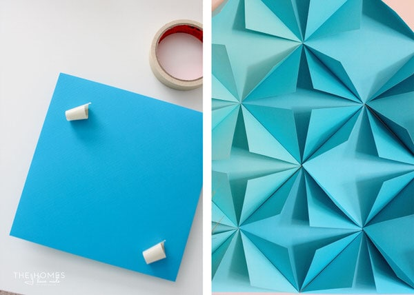 Here are the easy-to-find and inexpensive supplies to DIY a 3D Paper Mountain Mural!