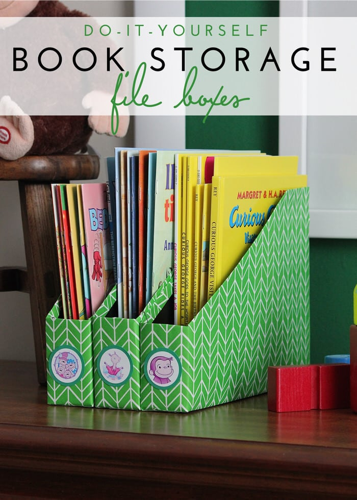 DIY Book Storage File Boxes