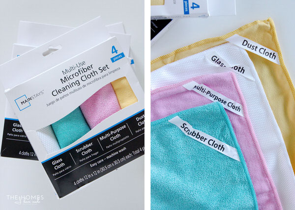 Fill your cleaning kits with multi-purpose rags and cloths!