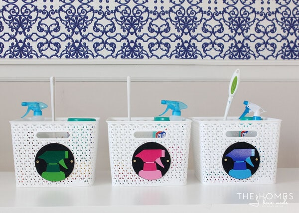 Organize Your Cleaning Supplies with Colorful DIY Cleaning Kits!