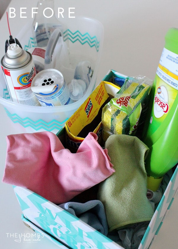 Under the Kitchen Sink Storage for Cleaning Supplies | Before
