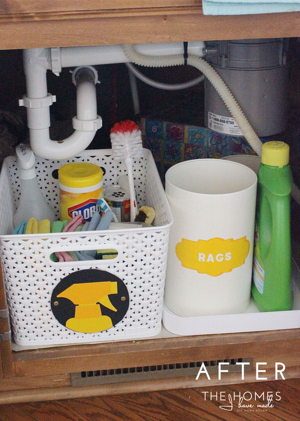 Under the Kitchen Sink Cleaning Supply Kit