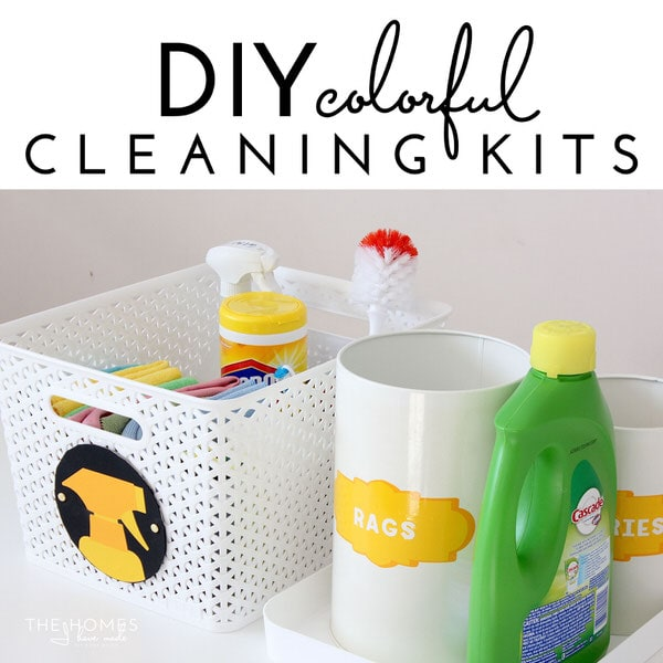 DIY Colorful Cleaning Kits to Corral Cleaning Supplies