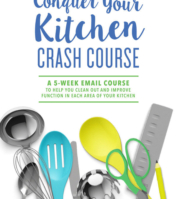 This FREE 5-week email course will help you clean out and improve function in EACH area of your kitchen!