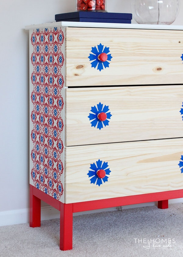 Use a Cricut Explore to update pieces of furniture!