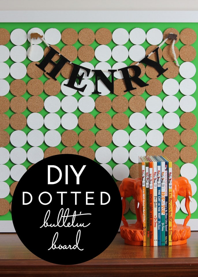 DIY Dotted Bulletin Board