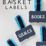 Label ANY Bin or Basket with Magnetic Basket Labels!