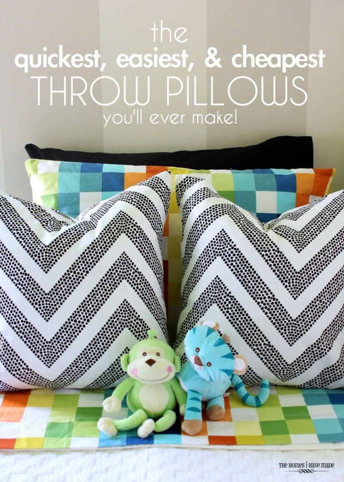 Quick and Easy Throw Pillows