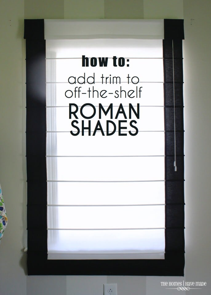How to Customize Off-the-Shelf Roman Shades