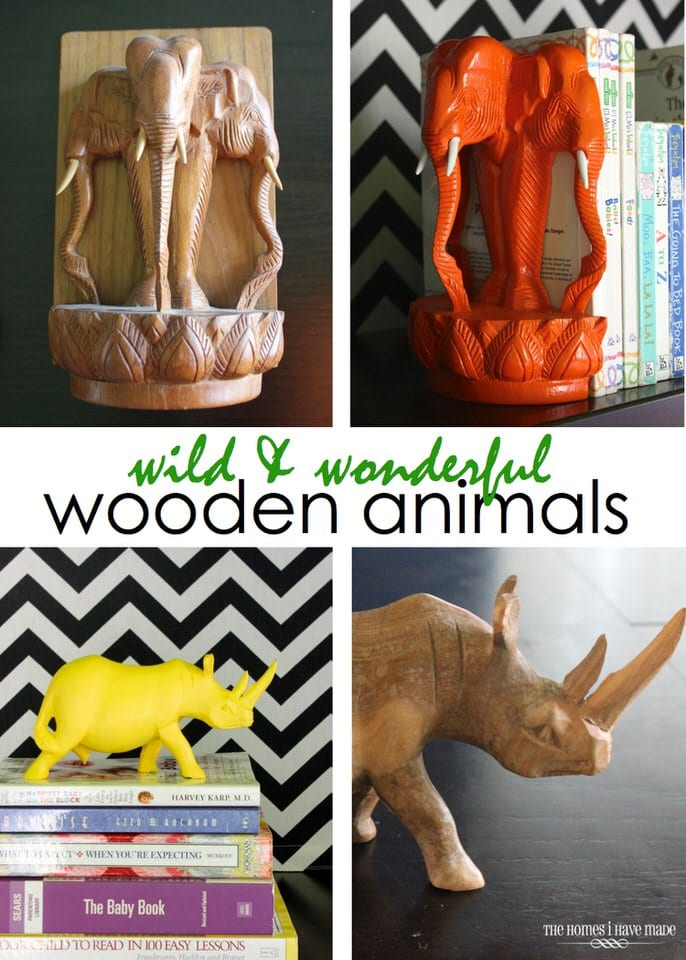 Painted Wooden Animals