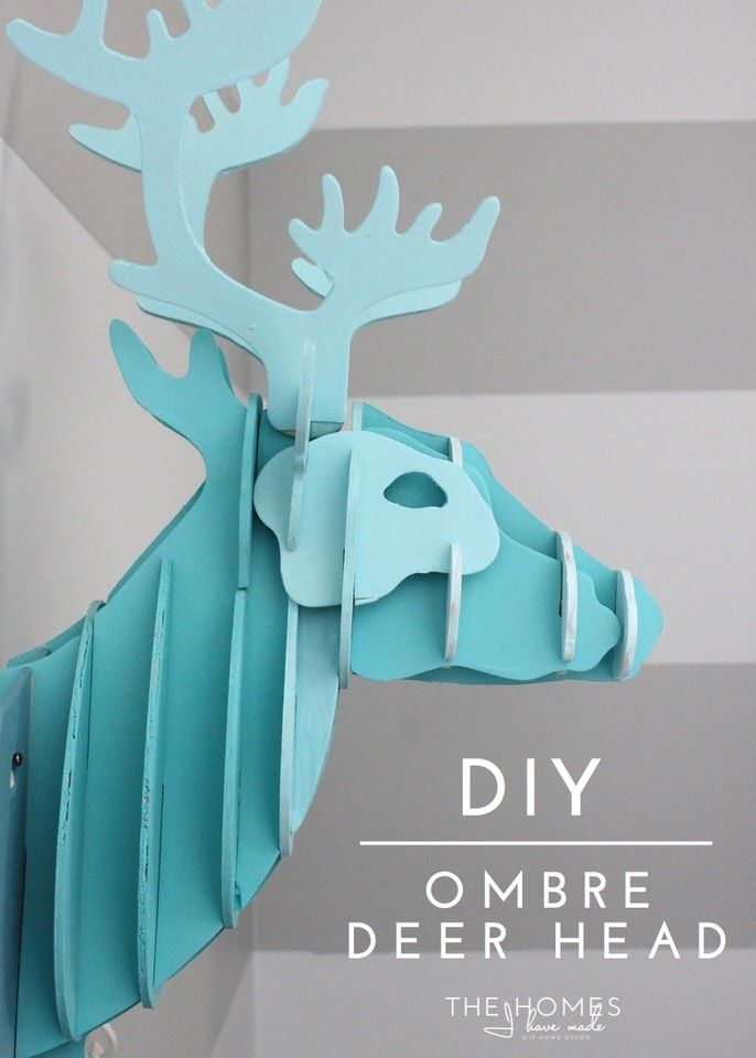 Ombre Deer Head-
