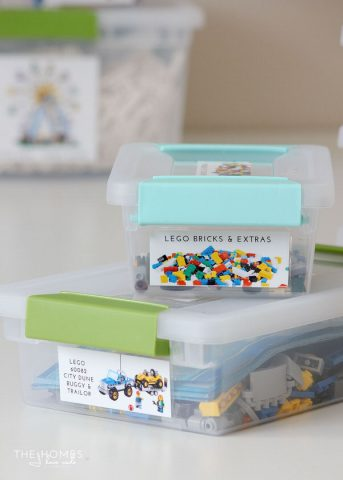Get your Lego kits organized and labeled with this simple organizing project! Never loose a manual or piece again!