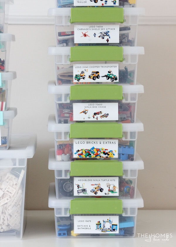 how to organize lego manuals