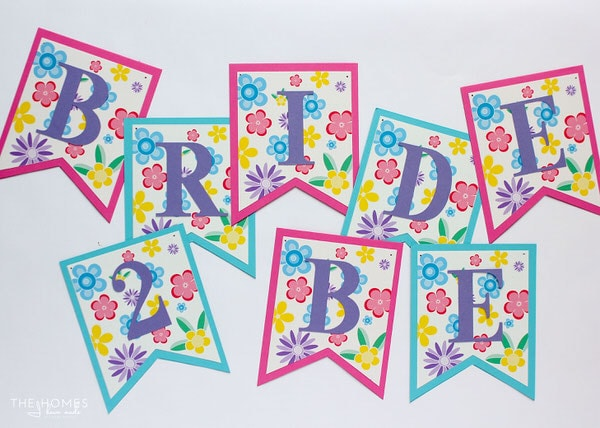 Use this pretty floral printable to make your very own Spring banner! Customize it with any phrase you want!