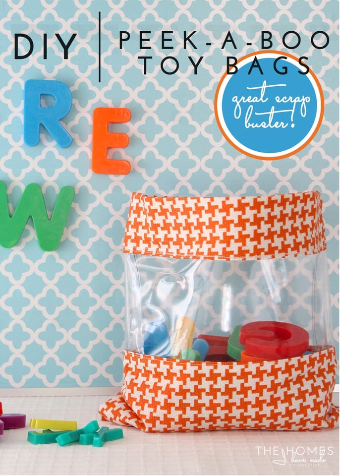 Peek-a-Book Toy Storage Bags