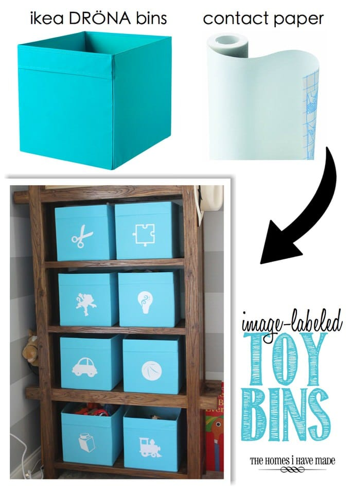 Image-Labeled Toy Bins