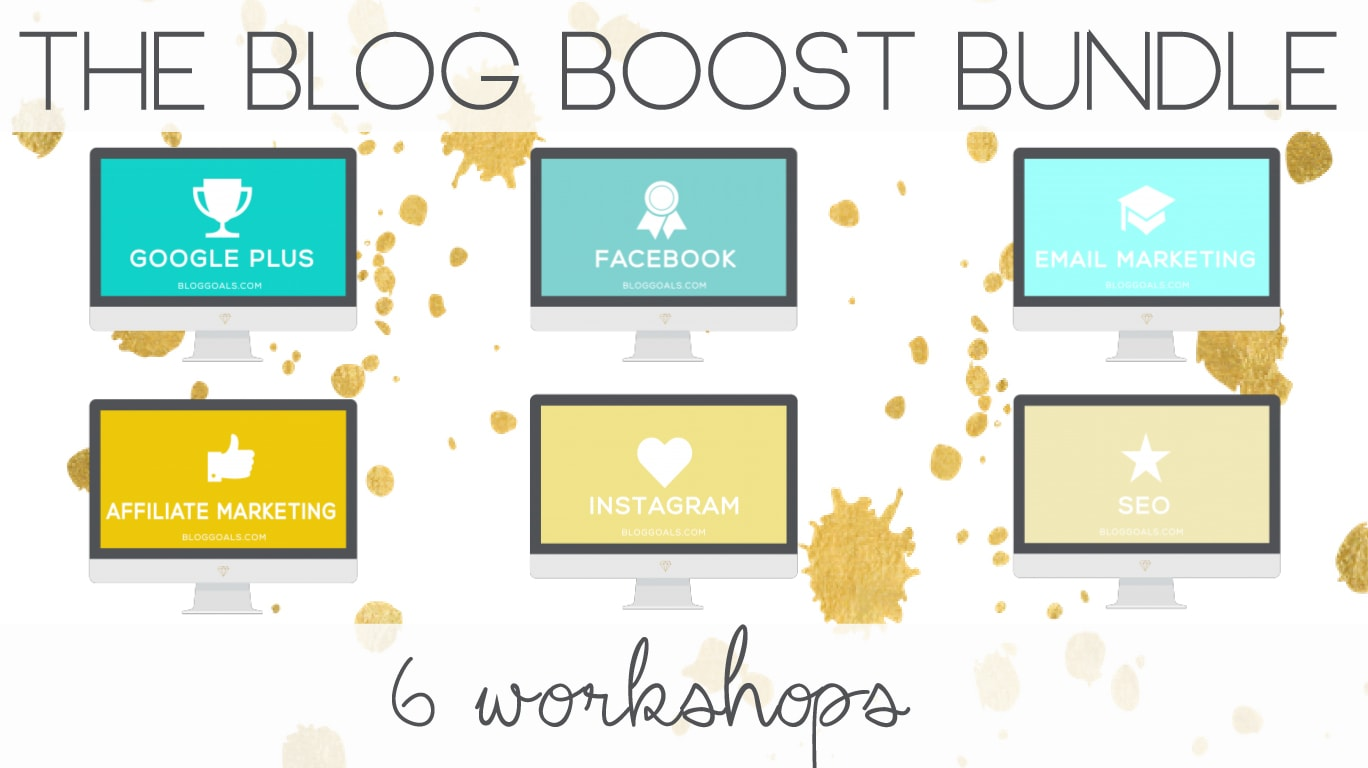 Take your blog to the next level! There are over 24 hours of instruction across 6 amazing workshops with the Blog Boost Bundle!