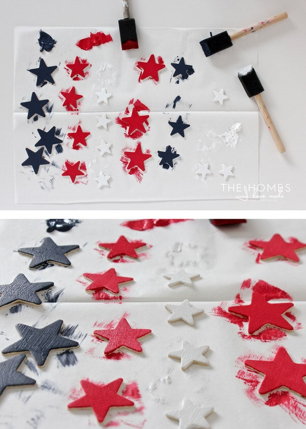 Celebrate the July 4th with this easy DIY Star Spangled Cake Topper!