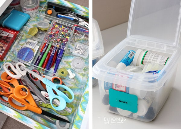 Easy and functional craft storage solutions.